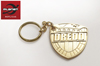 Judge Dredd Badge Metal Keyring